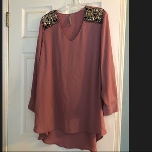 Maybe tunic with beaded shoulder detail